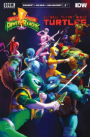 Mighty Morphin' Power Rangers/Teenage Mutant Ninja Turtles #1 (of 5) - THIRD PRINT Variant Cover